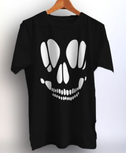 Skull Cut Out Halloween Favorite Shirt Unisex Adult