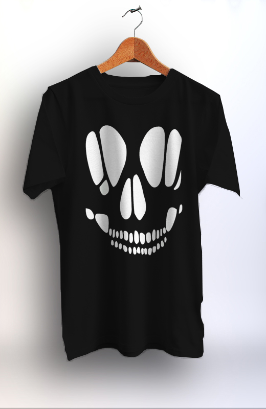 Skull cut out halloween