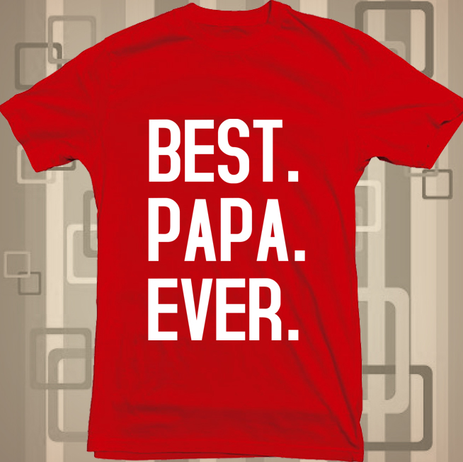 best dad ever red