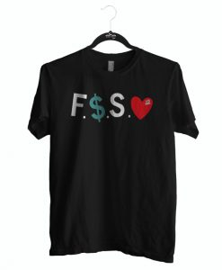 Funny tshirt fuck money spread love for men and women