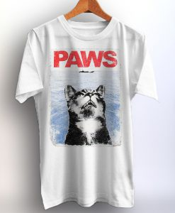 Cat Shirt Paws Jaws Movie Legend Tshirt Graphic Print