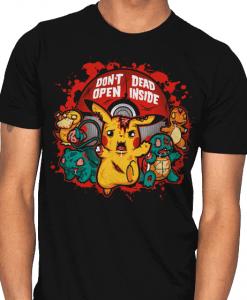 zombie pikachu dead inside tshirt unisex for men and women