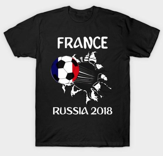 Soccer Jersey Flag France Football Team World Cup Gift Shirt T-Shirt