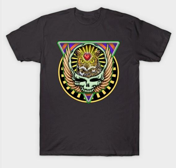 Brain Skull Eagle T-shirt
