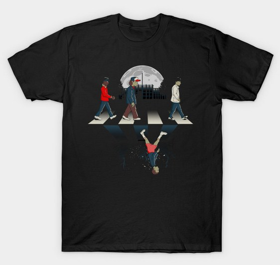 Upside Down Road Stranger Things T-Shirt