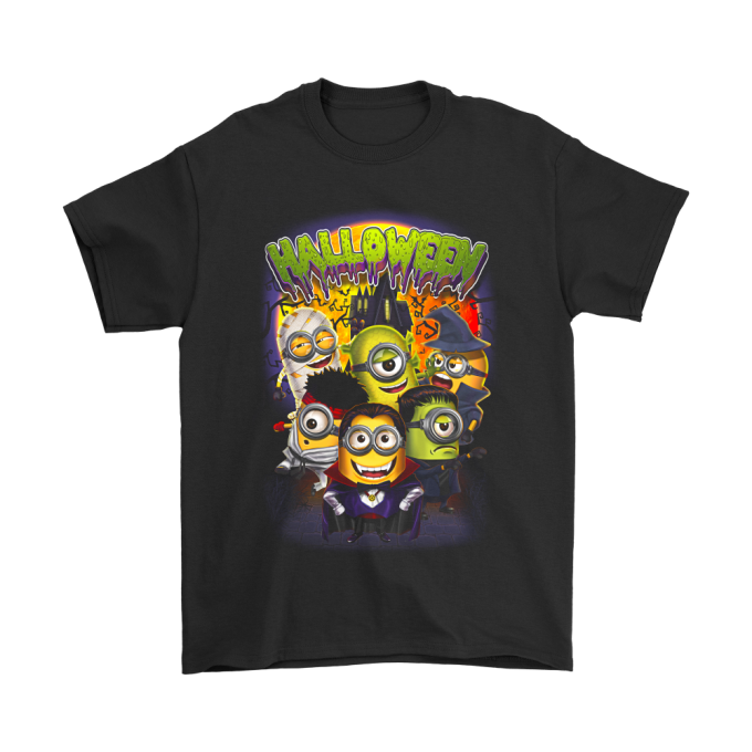 CUTE MINIONS IN COSTUME DESPICABLE ME HALLOWEEN SHIRTS
