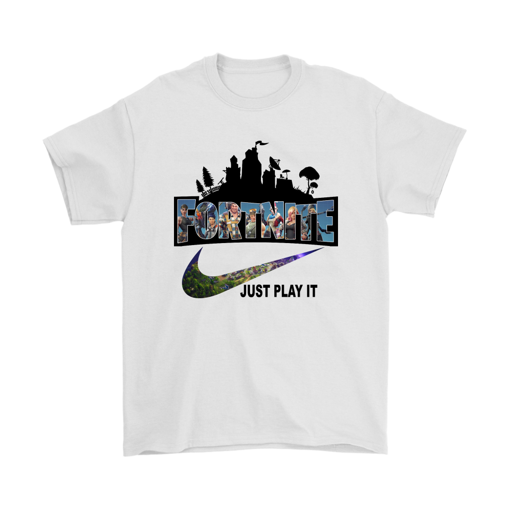 368356a29 Fortnite Battle Royale X Nike Just Play It Logo T-shirt by clothenvy
