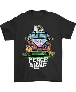 Peace And Love Hippie Style Snoopy T-shirt