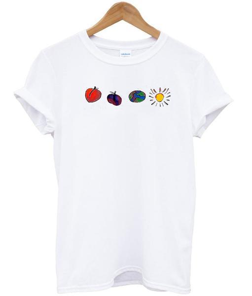 Peach Plum Earth Sun T shirt