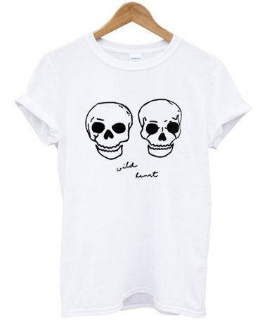 Wild Heart Skull Head T-Shirt