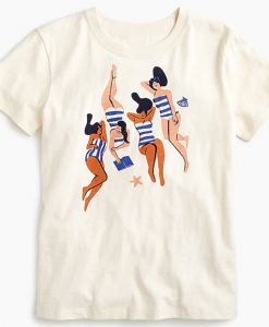 Women Virginie Morgand Sunbathers T-shirt