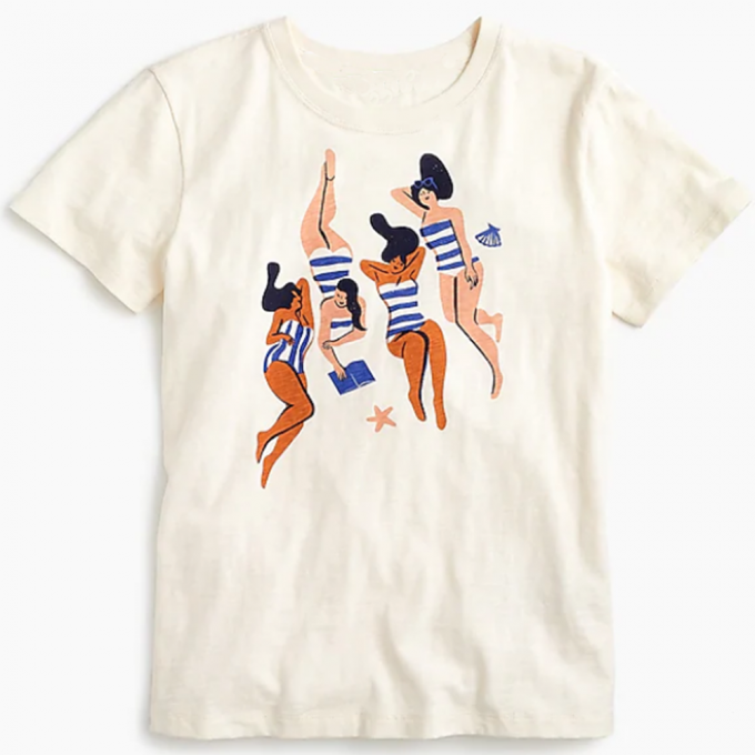 Women Virginie Morgand Sunbathers T-shirt