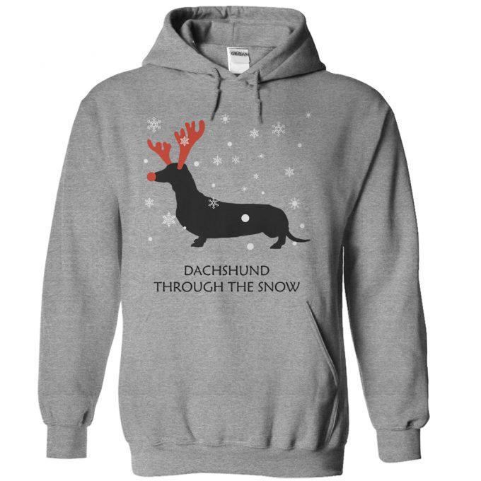 Dachshund Through The Snow Hoodie