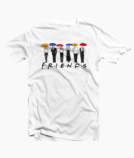 Friends Umbrella Design T-shirt