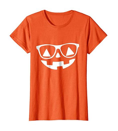 Halloween Pumpkin Face With Glasses T-shirt