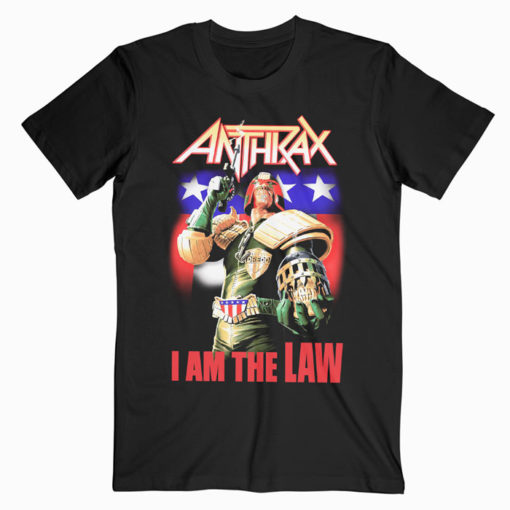 Anthrax I Am The Law Band T-Shirt
