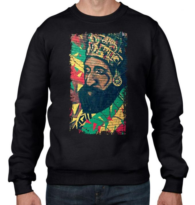 Haile Selassie Rasta Reggae Sweatshirt