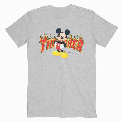 Mickey Mouse X Thrasher Parody T-shirt