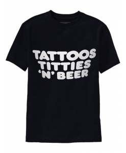 Tattoos Tiities N Beer T-shirt