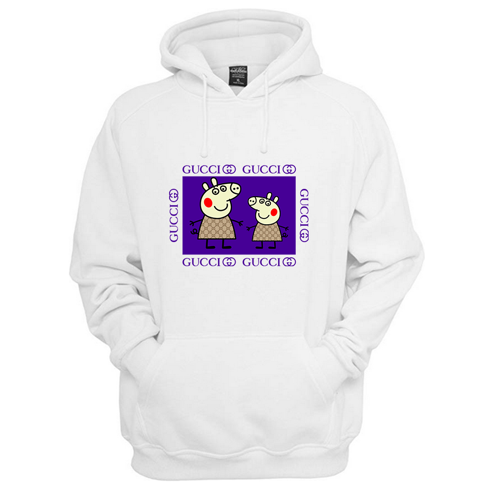 fashion styles finest selection better Peppa Pig Family Gucci Purple Hoodie. The design is printed ...