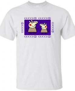 Peppa Pig Family Gucci Purple T-shirt