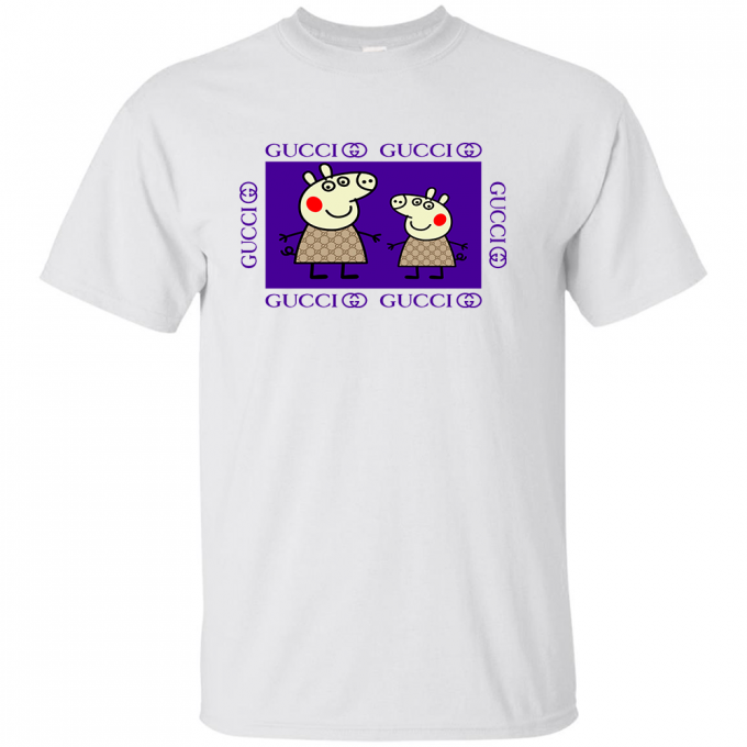 Peppa Pig Family Gucci Purple T-shirt