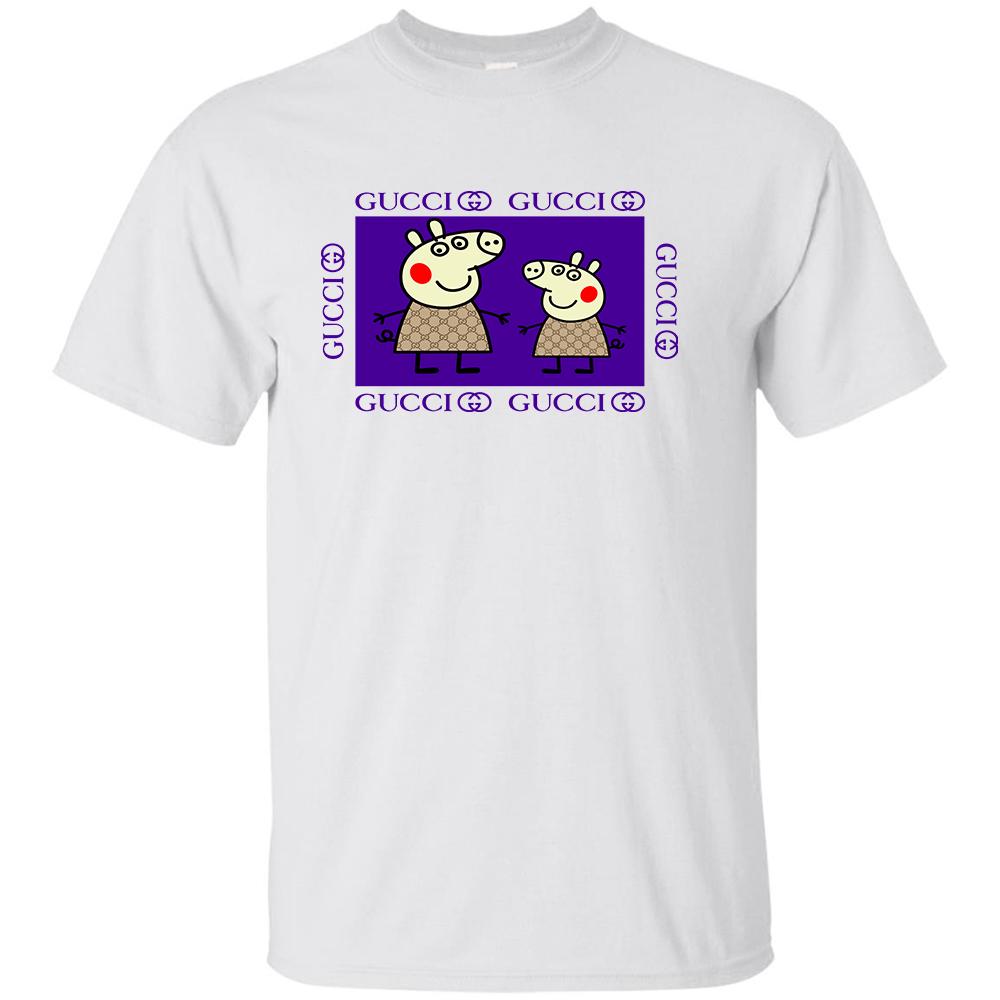 618cbf2d Peppa Pig Family Gucci Purple T-shirt – Custom Design – Clothenvy.com