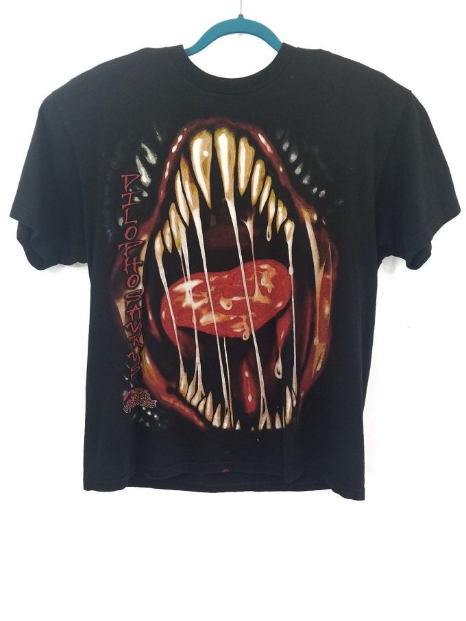Vintage RARE JurassicPark Ride Dilophosaurus T-shirt 1