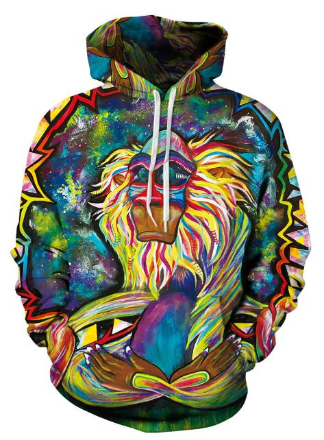 Ape Colorfull Full Print 3D Hoodie