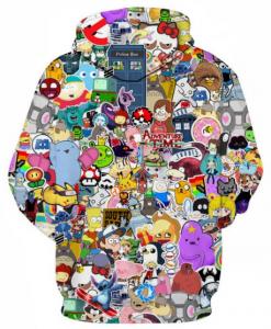 Cartoon Serial TV Full Print 3D Hoodie