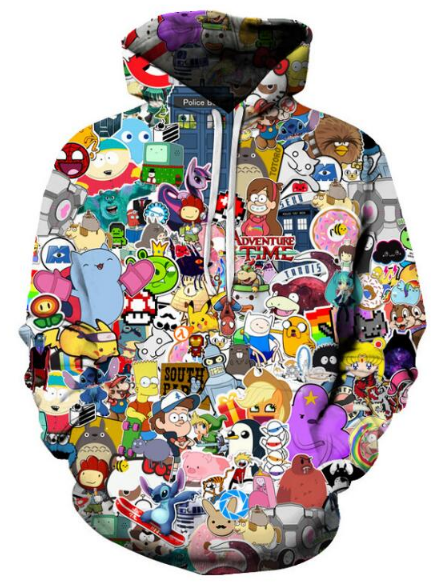 Cartoon Serial TV Full Print 3D Hoodie