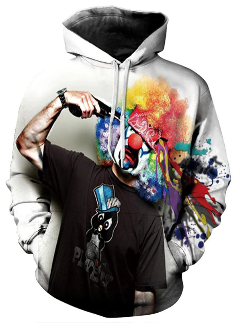 Clown Killed Himself Full Print 3D Hoodie