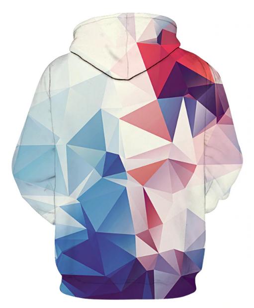 Geometric Spectrum Polygon Hoodie