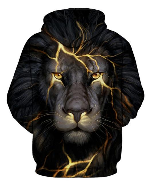 Head Lion Full Print 3D Hoodie