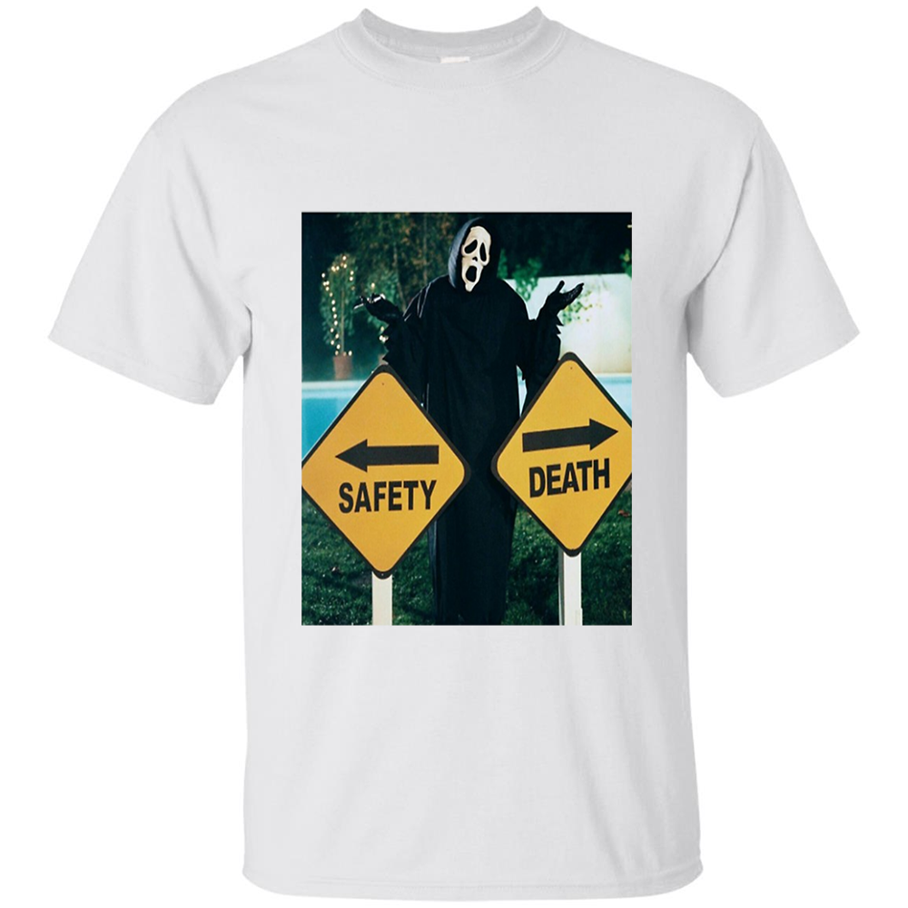 Safety Or Death Scary Movie T Shirt By Clothenvy