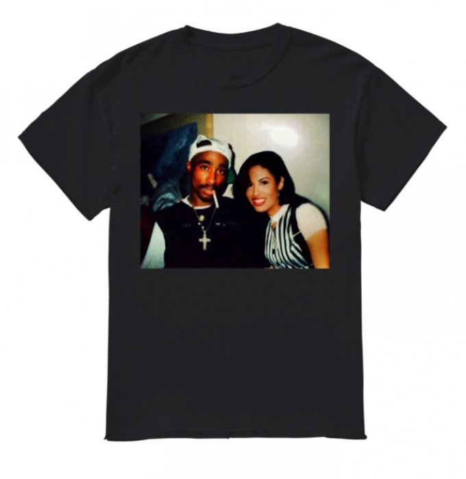 Tupac Shakur and Selena Quintanilla T-shirt