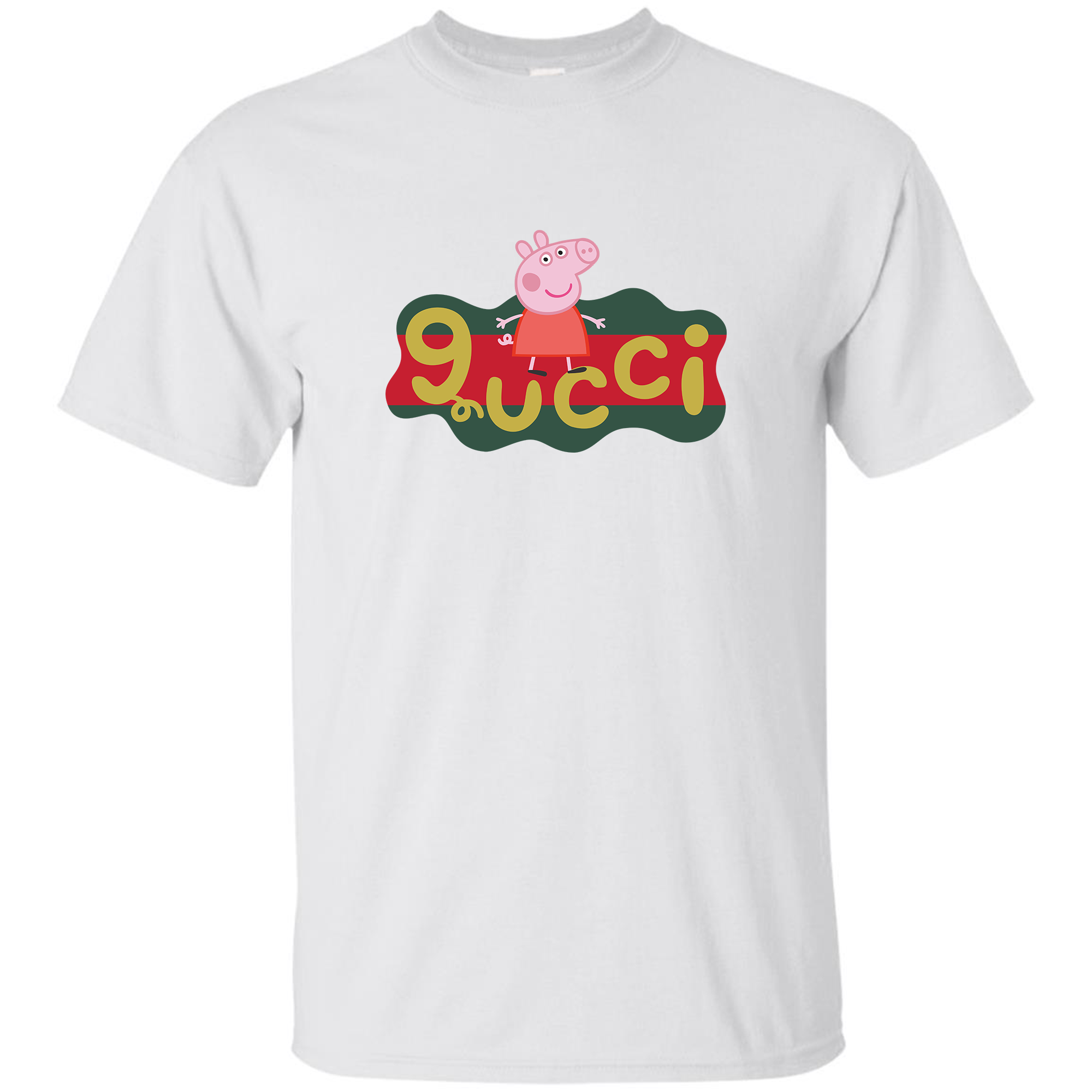 Parody Peppa Pig X Gucci Logo Replica T-shirt Print By Clothenvy