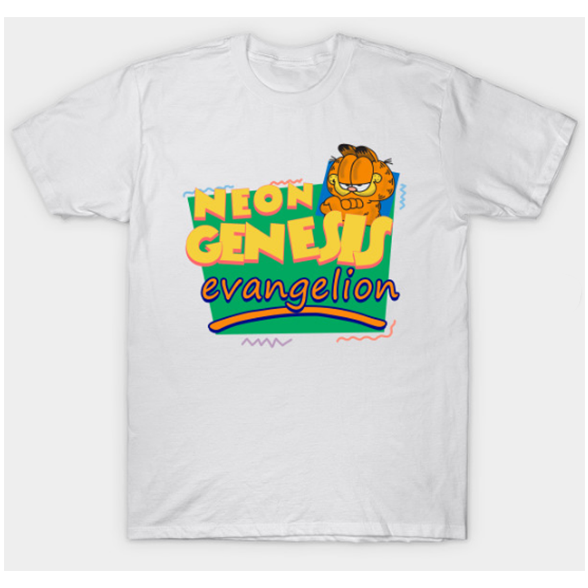 Neon Genesis Evangelion Meets Garfield T Shirt By Clothenvy